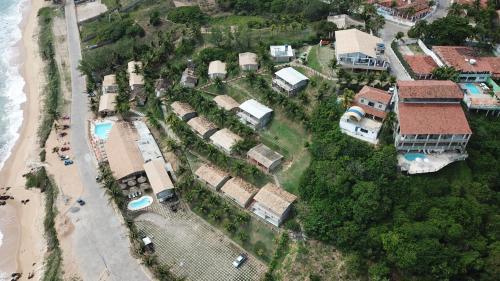 Uma vista aérea de Chalemar Hotel Pousada