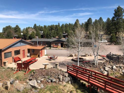 The Canyon Motel & RV Park during the winter