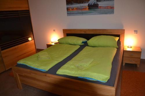 Ein Bett oder Betten in einem Zimmer der Unterkunft Adebarsoase