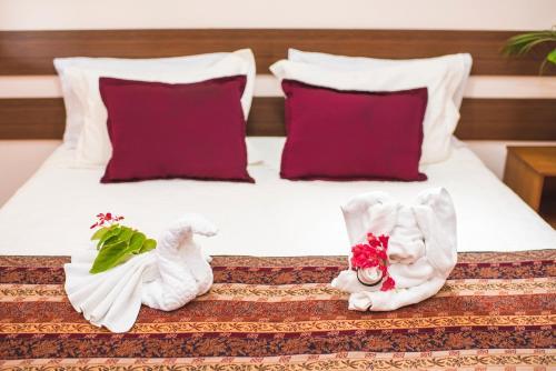 Cama o camas de una habitación en CT Vila Raiza Goulão