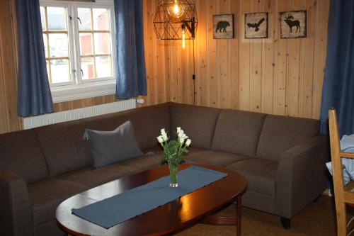 A seating area at Tynset Rom & Camping