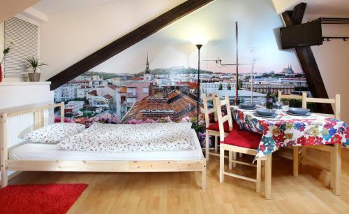 Postel nebo postele na pokoji v ubytování Panorama