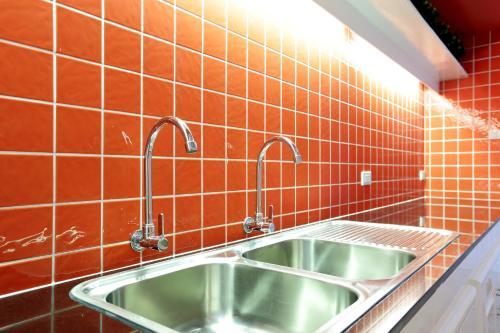 Küche/Küchenzeile in der Unterkunft Smile Inn