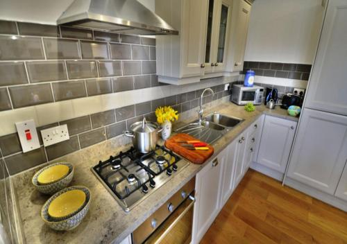 A kitchen or kitchenette at Woodvilla Lodge
