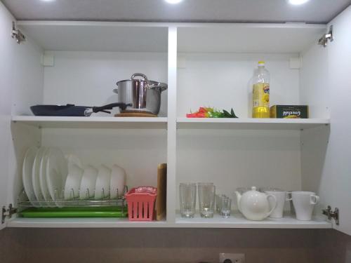 A kitchen or kitchenette at Arbat House. Center