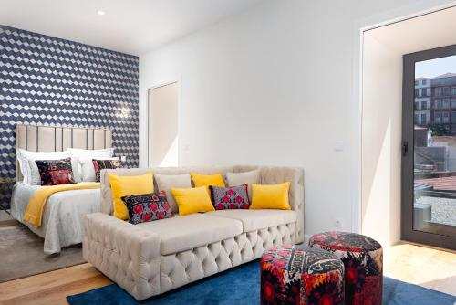 A seating area at EXKLUSIVE Bandeira 1018 Apartments