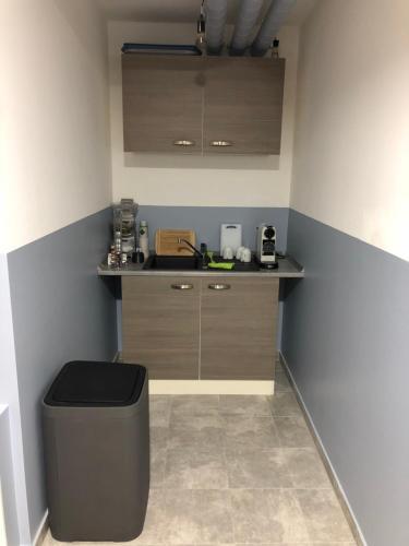 Küche/Küchenzeile in der Unterkunft Pension Osthoff
