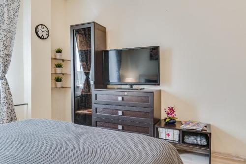 Телевизор и/или развлекательный центр в Shuvalova 4/1 Apartment