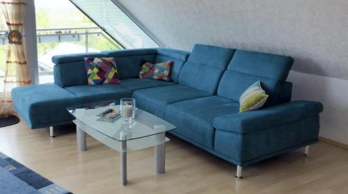 Ein Sitzbereich in der Unterkunft Ferienwohnung Haus Rita