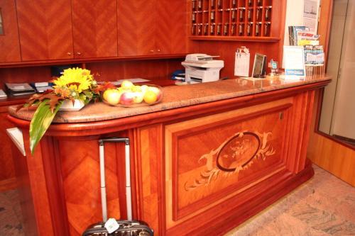 Lobby/Rezeption in der Unterkunft Hotel und Restaurant Ascania