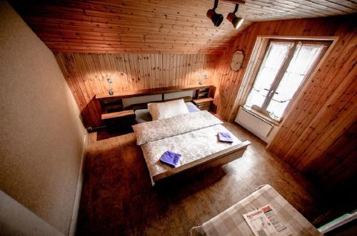 Un ou plusieurs lits dans un hébergement de l'établissement Auberge du Mont Blanc
