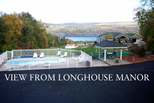 A view of the pool at Longhouse Manor B&B or nearby