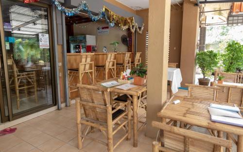 En restaurang eller annat matställe på P & T Hostel