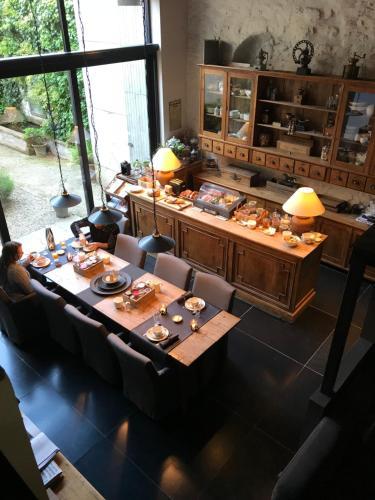 Een restaurant of ander eetgelegenheid bij B&B De Waterzooi