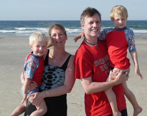 A family staying at 't Zeepaardje