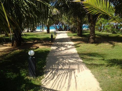 A garden outside Villa Nilaveli Cabana
