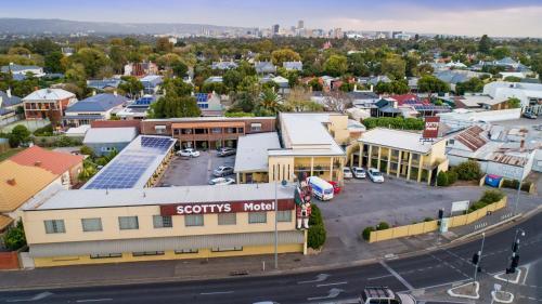 A bird's-eye view of Scotty's Motel