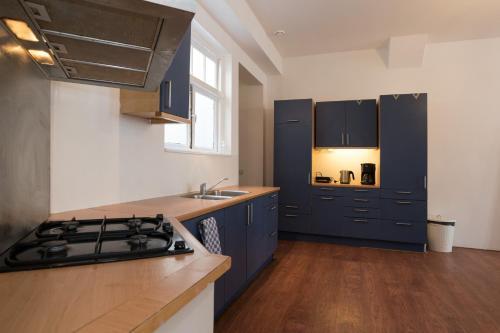 A kitchen or kitchenette at Siebold Apartment