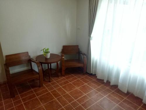 A seating area at Baan Jaru