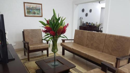 A seating area at Hotel Pousada da Néia
