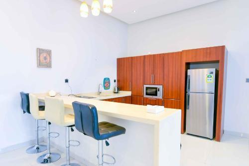 مطبخ أو مطبخ صغير في منتجع العرب