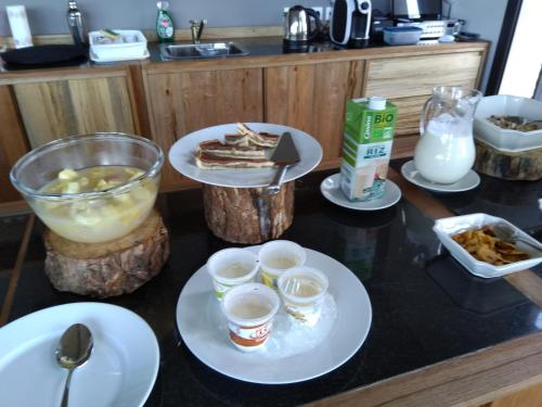 Breakfast options available to guests at Couleur Café