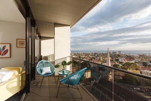 A balcony or terrace at Ascent Apartment with Ocean Views by Ready Set Host