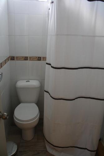 A bathroom at Alojamiento El Aromo