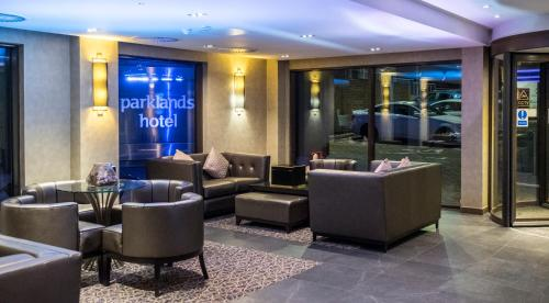 The lobby or reception area at Parklands Hotel & Country Club
