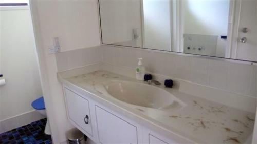 A bathroom at BARRELS AT BOOMERANG