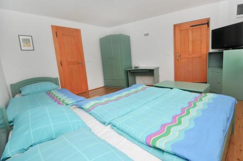 Postelja oz. postelje v sobi nastanitve Apartments Tonkli