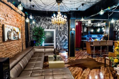 The lounge or bar area at Sofia Lux Loft