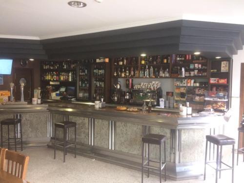 The lounge or bar area at Casa Goas