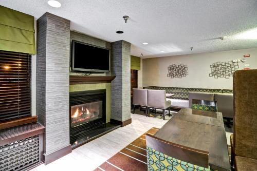 A television and/or entertainment center at Hampton Inn State College