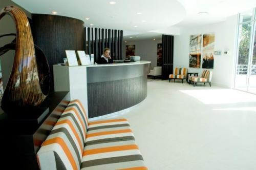 The lobby or reception area at Chancellor Executive Apartments
