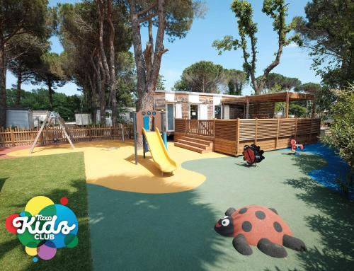 Children's play area at Camping Taxo Les Pins