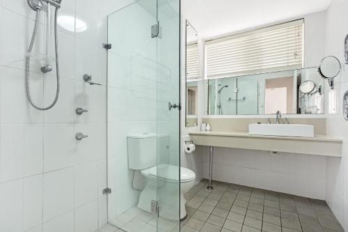 A bathroom at Bay Village, Unit 14/ 47 Shoal Bay Road