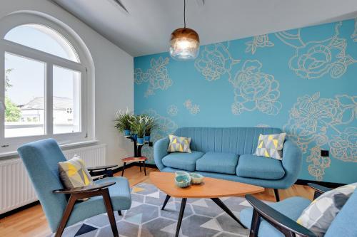 A seating area at Sopot Comfort Apartments Superior