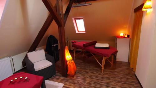 Ein Sitzbereich in der Unterkunft Villa Am Ehrensteig