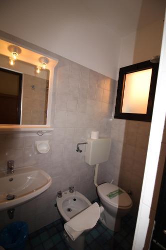 Koupelna v ubytování Albergo Santa Margherita