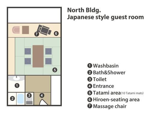 The floor plan of Hyoe Koyokaku