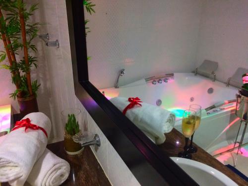 A bathroom at Hotel Chilimaco