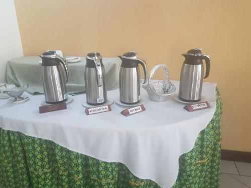 Coffee and tea-making facilities at Gorillas Lake Kivu Hotel