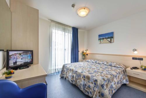TV a/nebo společenská místnost v ubytování Hotel Minerva