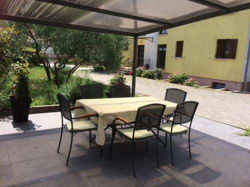 A patio or other outdoor area at Apartments Vacanza