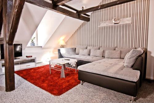 Ein Sitzbereich in der Unterkunft Gusto Stolberg
