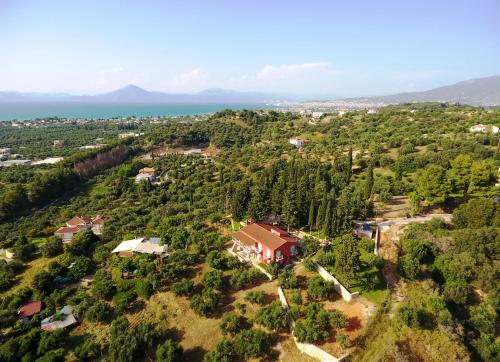 Άποψη από ψηλά του Sea View Villa with 4 bedrooms - grECOrama