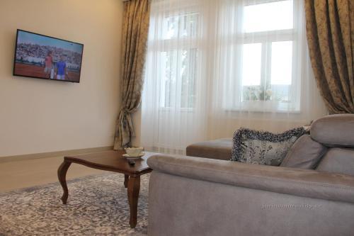 Posezení v ubytování Jurincom apartments Kralovska Vyhlidka