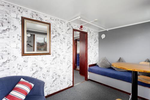 Säng eller sängar i ett rum på STF Rygerfjord Hotel & Hostel