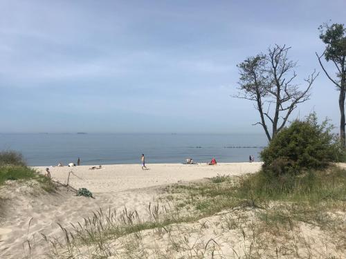 Пляж на территории мотеля или поблизости